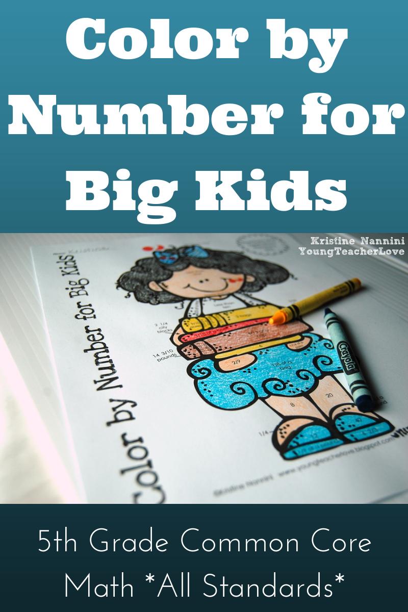 Color Number Big Kids 5th Grade Common Core Math