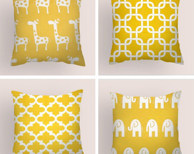 Decorative Pillows Yellow Pillow Covers Accent Nursery