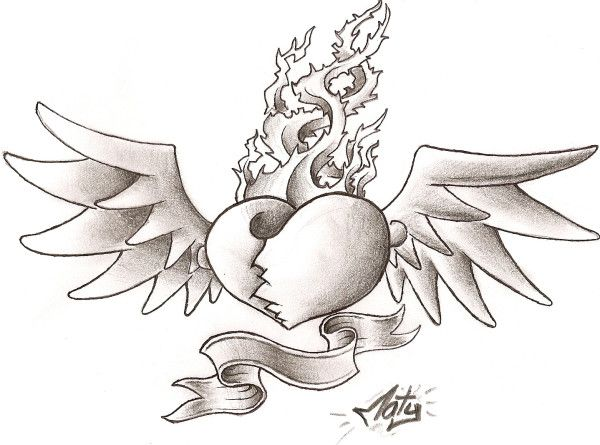 Los Mejores Corazones Hechos A Lapiz Por Artistas Dibujos De Corazones Corazones Para Dibujar Tatuaje Corazon Con Alas