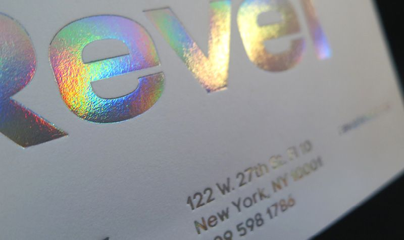 Silver Foil Rainbow Holograph Iridescent Printing Card New York City Holographic Print Foil Stamping Holographic Foil