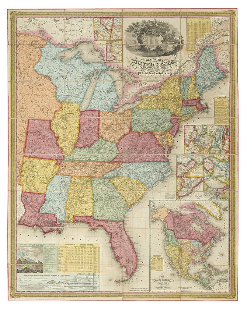 Swanngalleries Map Of The United States 1831 By Samuel
