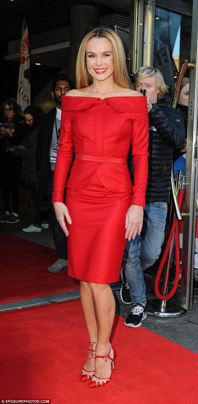 Amanda Holden In Samuel Dougal Red Dress Amanda Holden Fashion Red Dress
