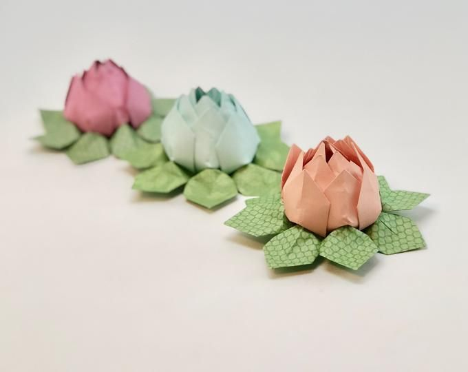 Photo of French Book Origami Lotus Flower Decoration, Gift or Favor — Graduation, Teacher Thank You, Romantic
