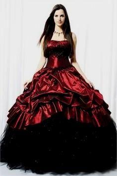 Black, Red, and White Wedding Dresses on Pinterest | Bonny Bridal ...