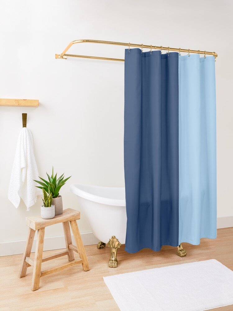 Minimal Abstract Navy Blue White 03 Shower Curtain By Beatris Veres Design In 2020 Green Shower Curtains Blue Shower Curtains Ombre Shower Curtain
