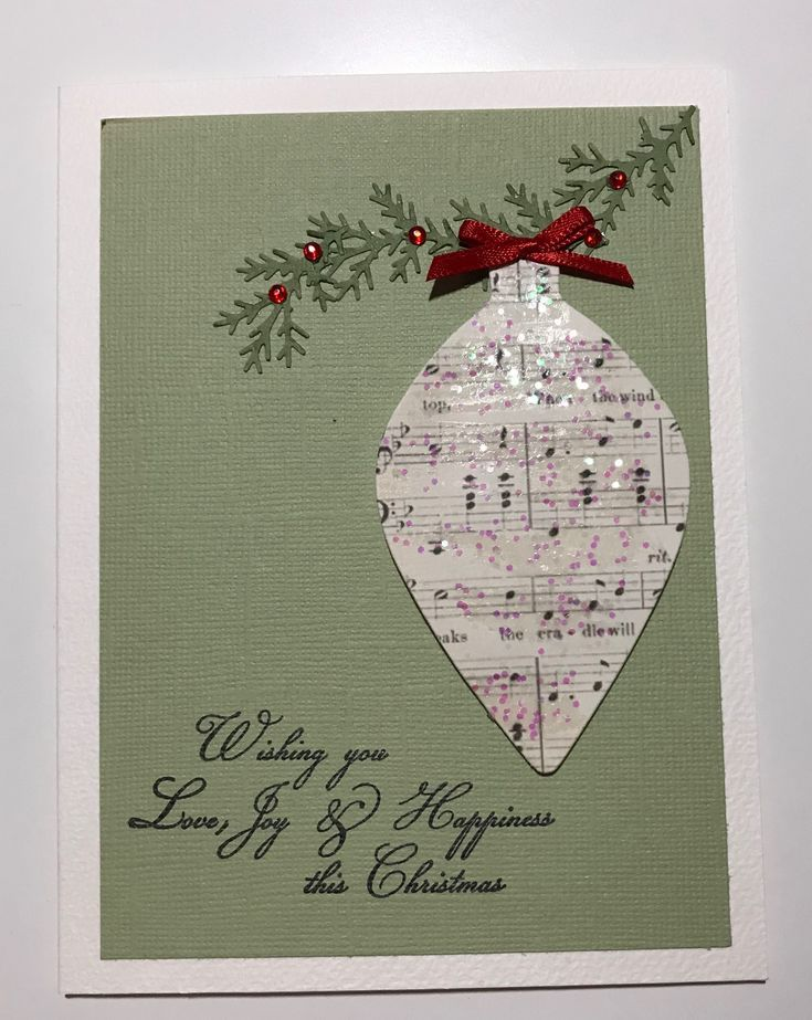simply christmas card that is very effect  homemade