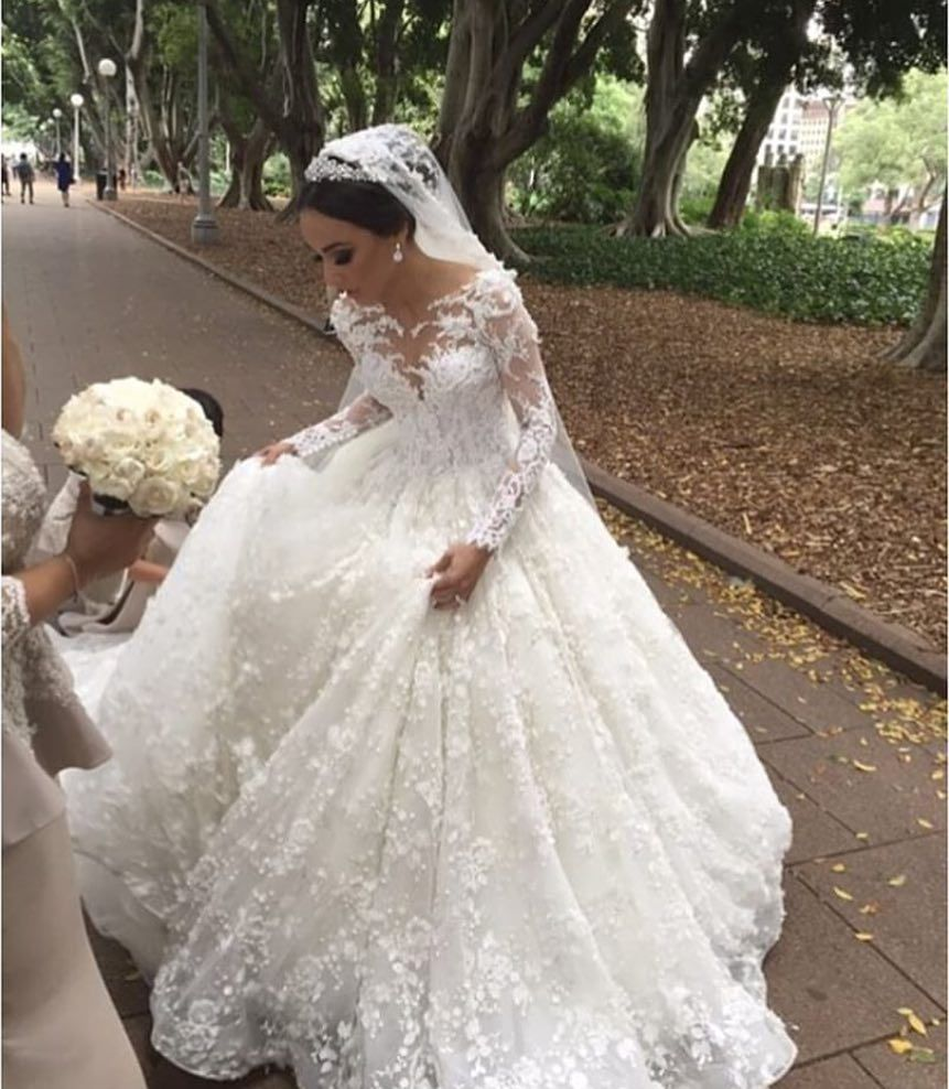 Custom Long Sleeve Wedding Gowns You Can Afford Ball Gowns Wedding Long Sleeve Wedding Gowns Wedding Dresses [ 988 x 861 Pixel ]