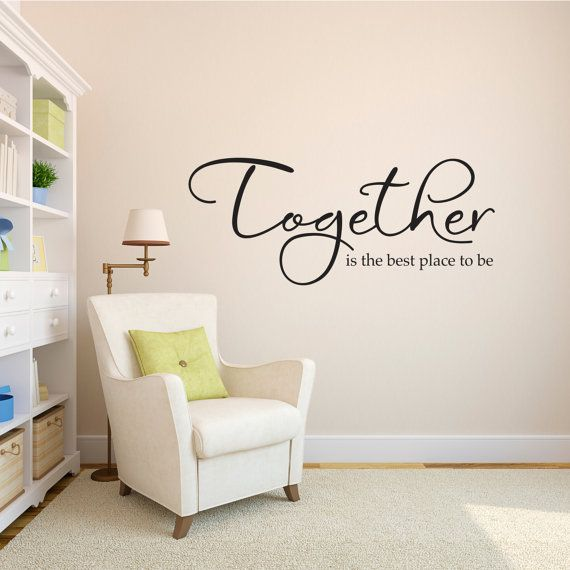 Together Decal  Together is the best place by StephenEdwardGraphic, $34.00