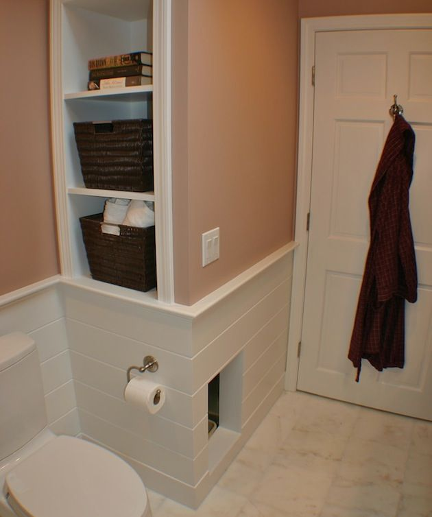 Built In Spot For Your Cat To Have His Own Private Bathroom With - Litter box in bathroom for bathroom decor ideas