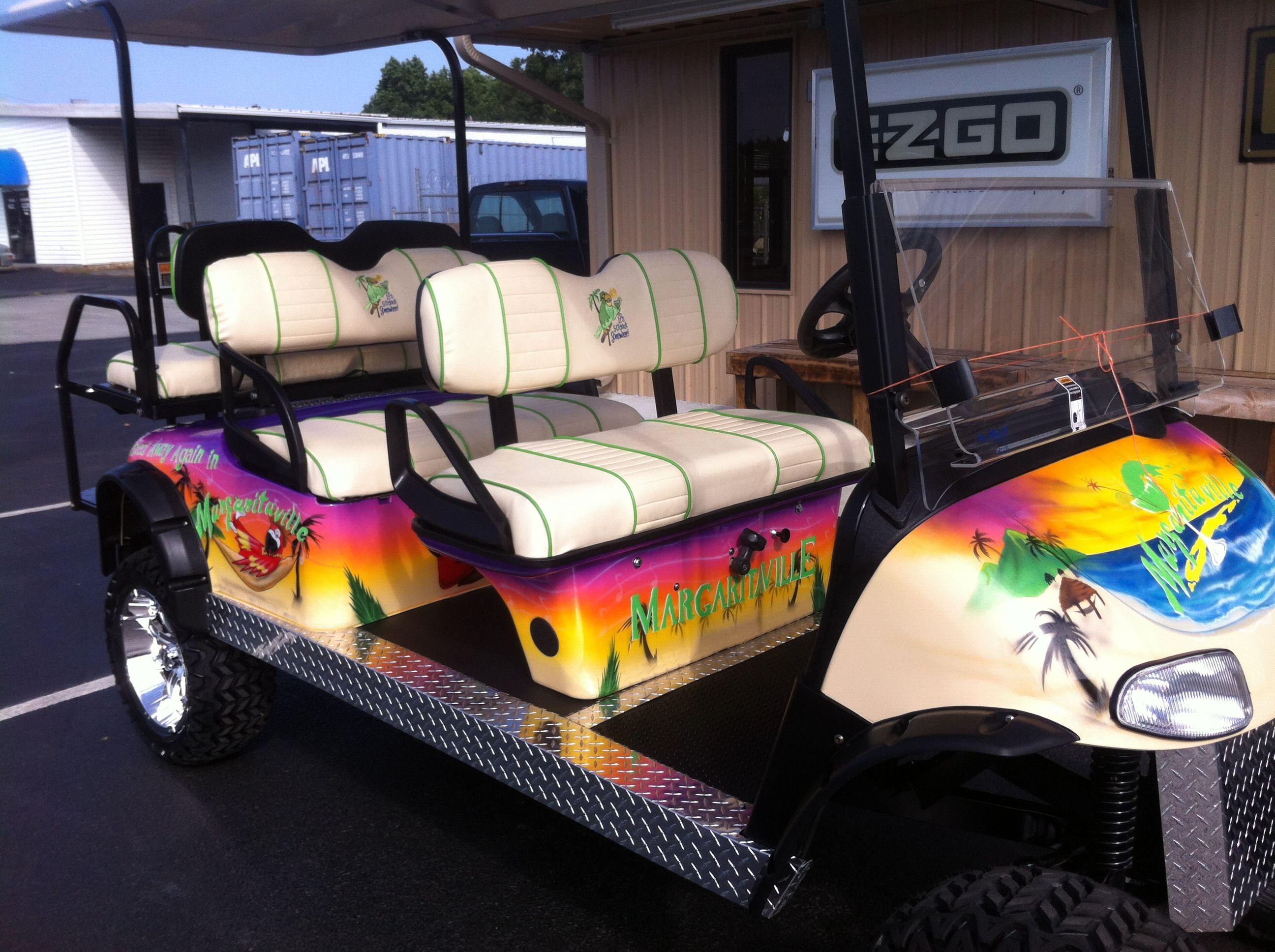 Metrolina Carts Custom Golf Carts Margaritaville Inspired ...  |Margaritaville Golf Cart Craigslist