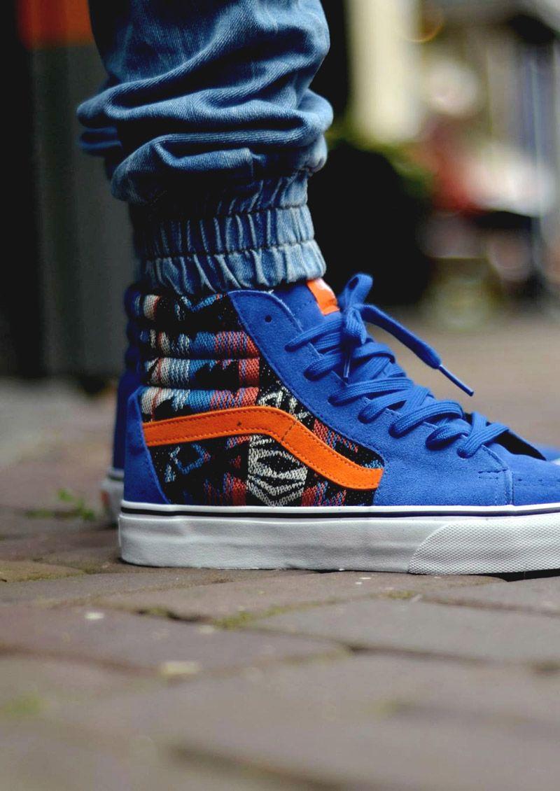 90a992435f6dc4 Vans Sk8-Hi Blue Suede Inca