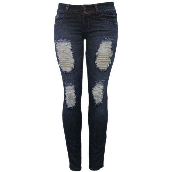 Cheap Destroyed Skinny Jeans For Juniors - Xtellar Jeans