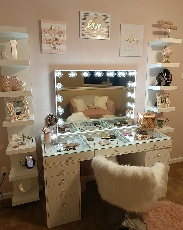Photo of SlayStation® Pro 2.0 Tabletop + Vanity Mirror + 5 Drawer Units Bundle (Pre-order Bright White Now. Expected ship date: June 30th) – Impressions Vanity Co.