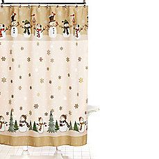 Image Of Heartland Snowman 70 Inch X 70 Inch Shower Curtain And