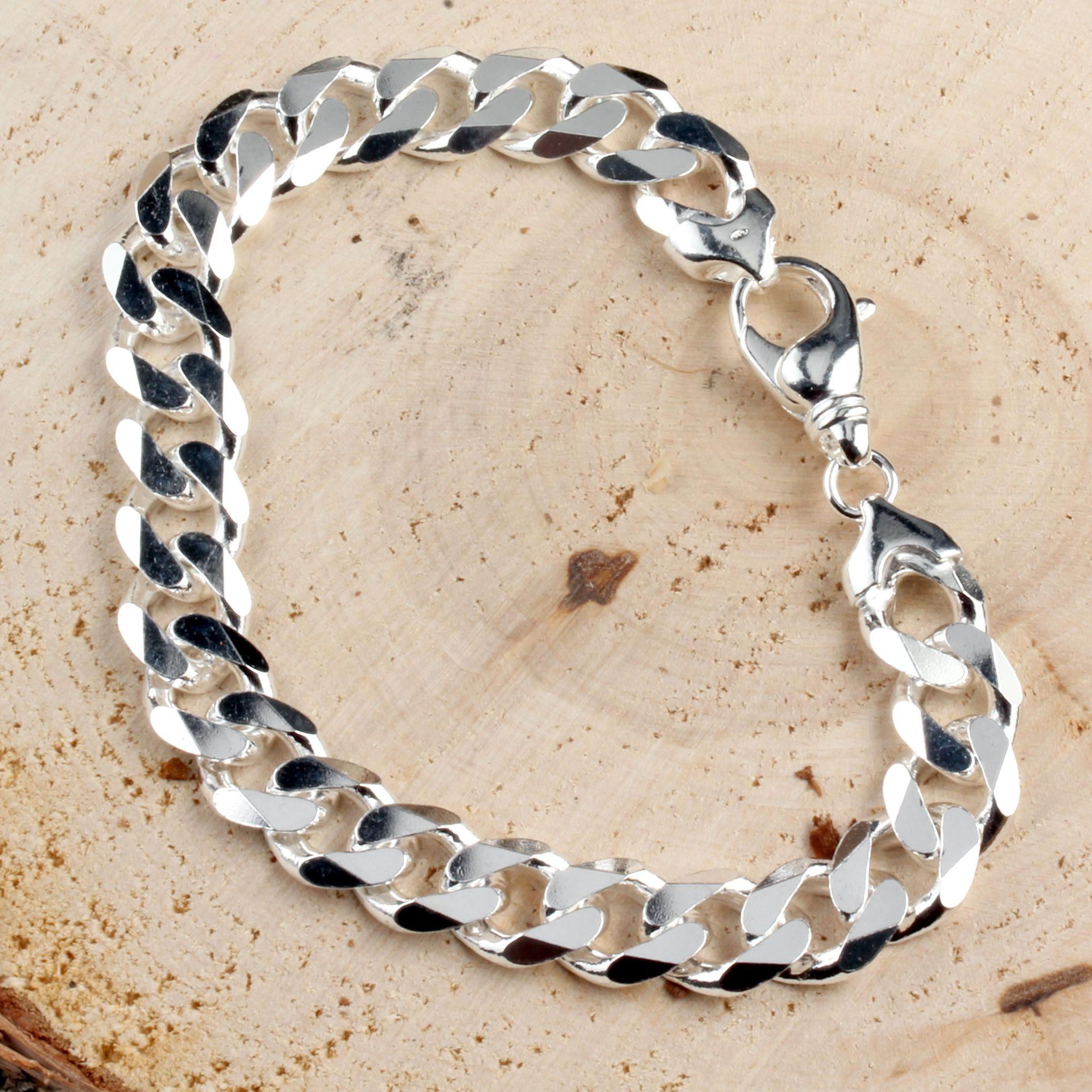 11 3mm Wide Sterling Silver Curb Bracelet