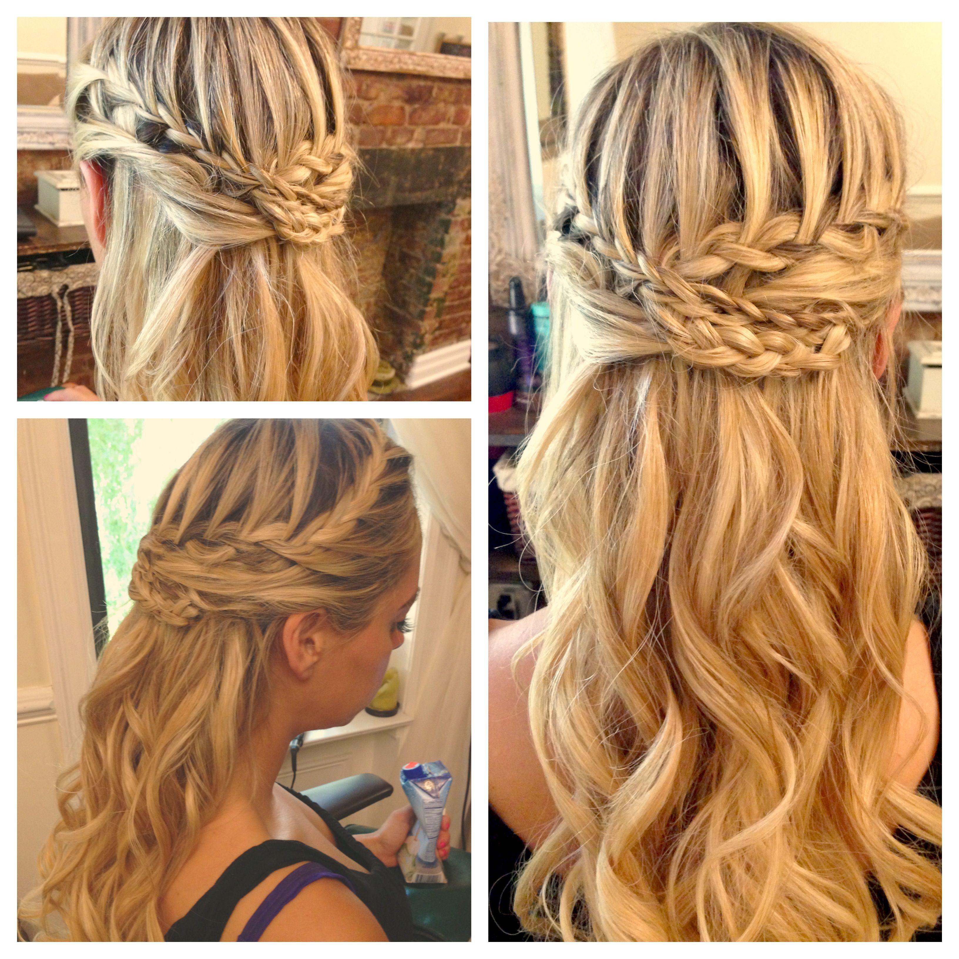 Blonde Braided Half Up Hair by Laureen Krawse Styles on B