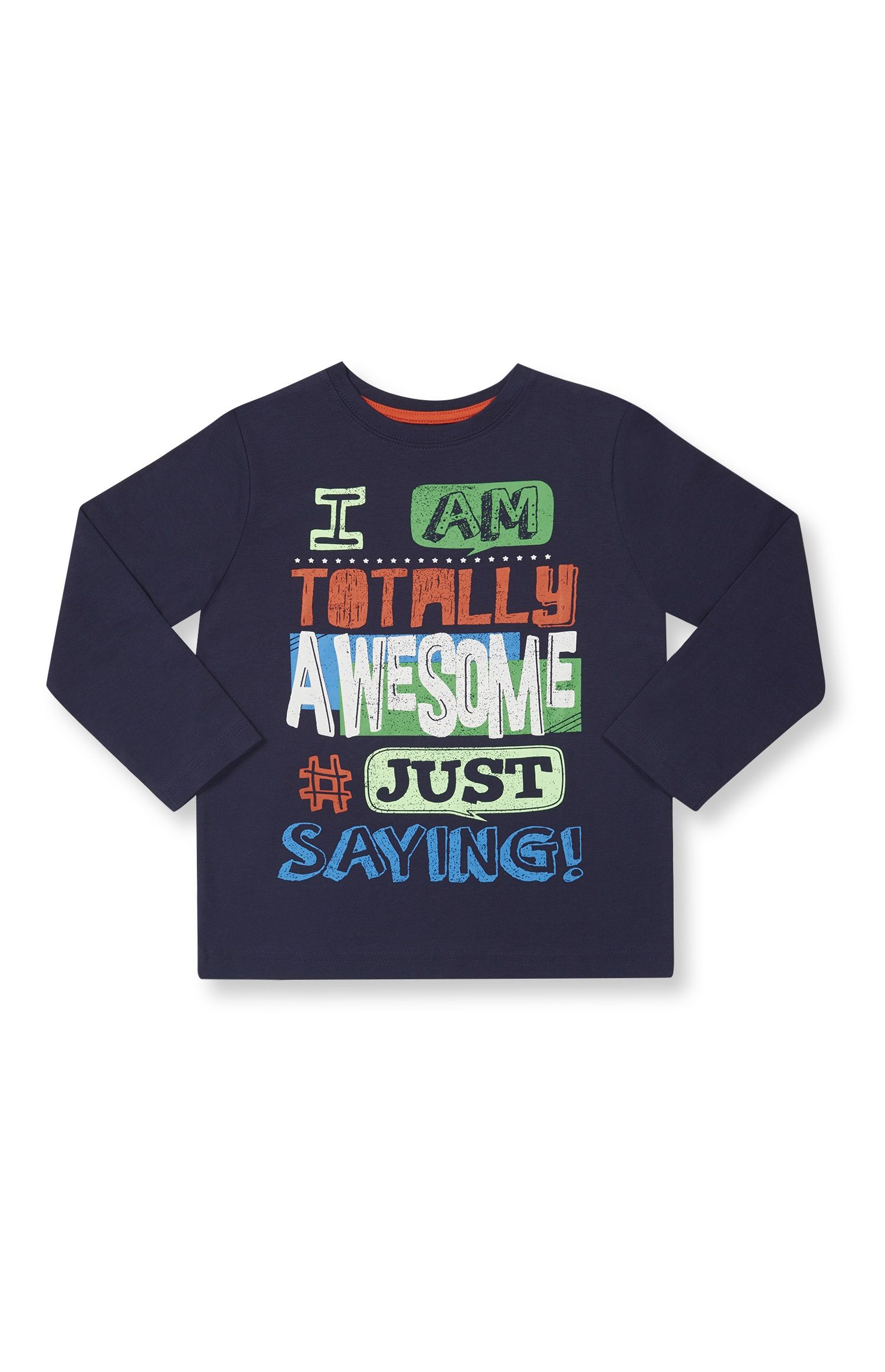 Primark - Navy Totally Awesome T-Shirt