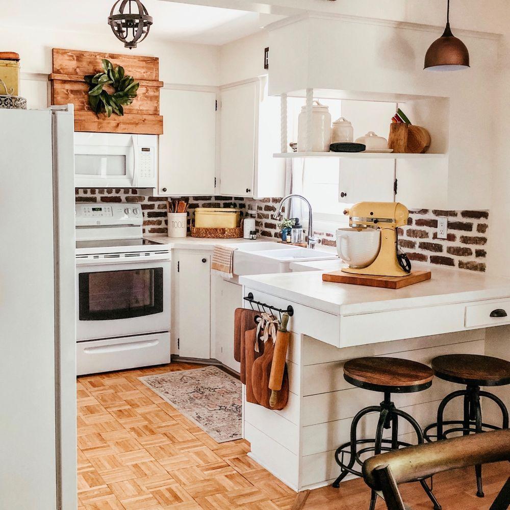How To Build Diy Breakfast Bar Cabinet In 2020 Kitchen Redo Cozy Kitchen Diy Kitchen