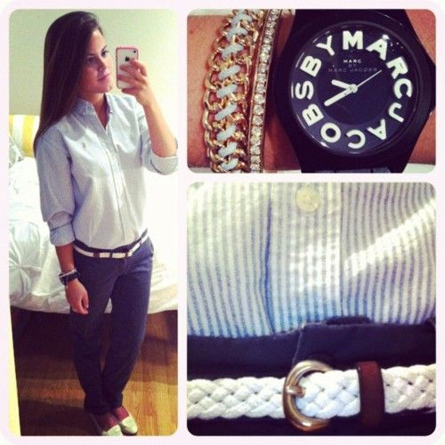 Clean preppy look. <3