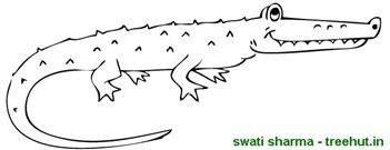 Crocodile coloring page Printables Pinterest Crocodile and