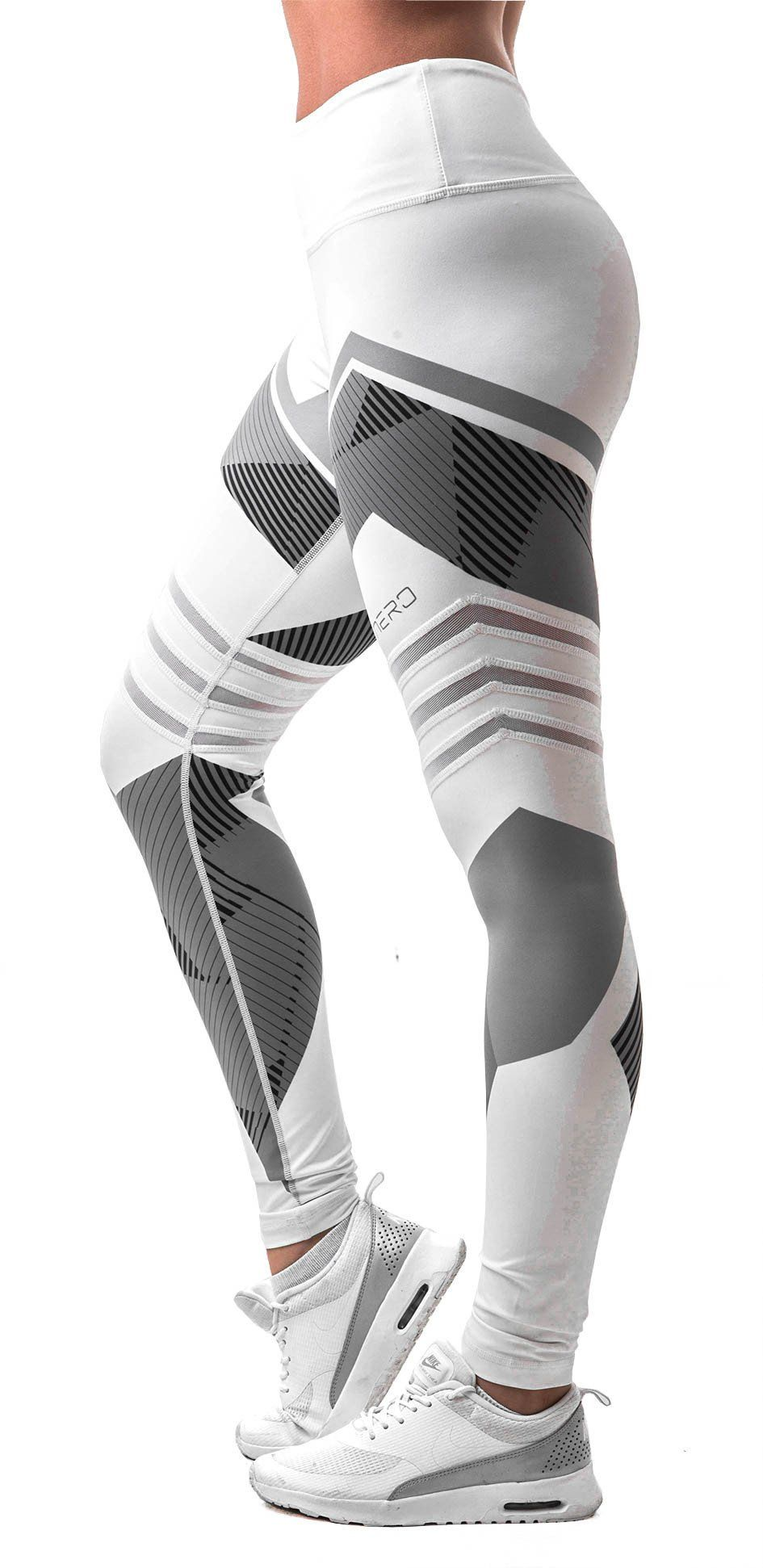 Boho Geometric Leggings Plus Size Gym Tights Activewear Printed Leggings