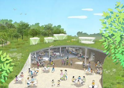 Riken Yamamoto Yokohama Zoo Restaurant 横浜動物の森公園サバンナゾーン レストラン他 2013 景観デザイン 学校建築 ランドスケープデザイン