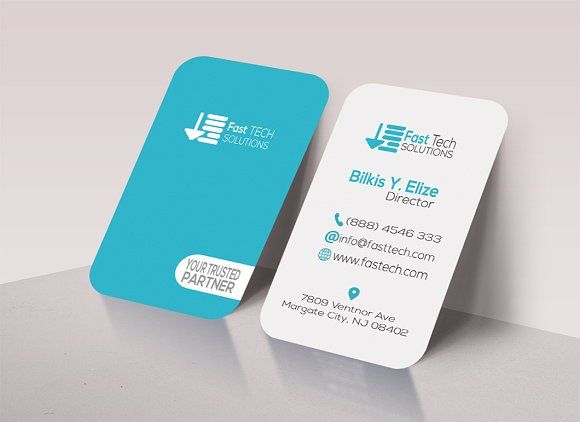 Fast tech round business card business cards card templates and fast tech round business card fbccfo Image collections