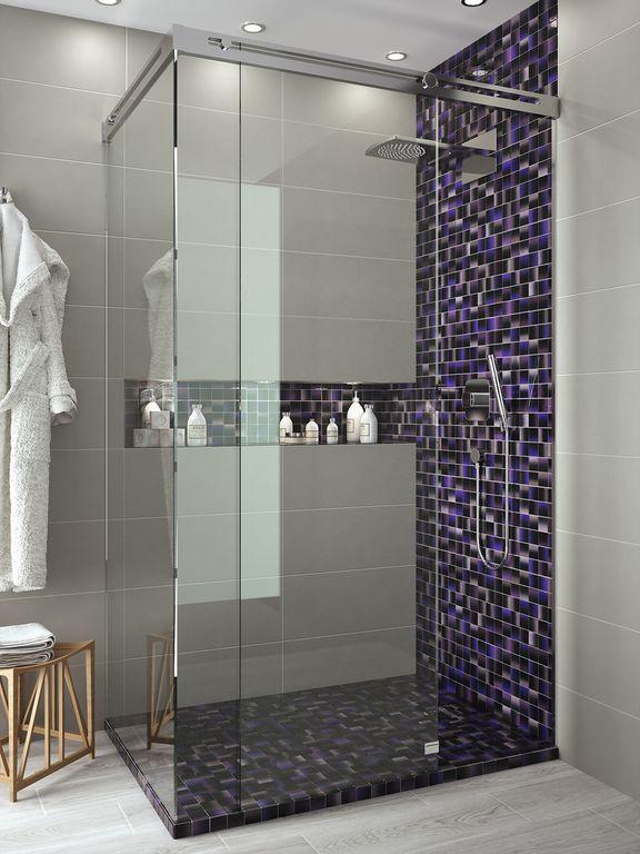 Mosaicos cristal decoraci n de interior y complementos for Revestimiento banos pequenos