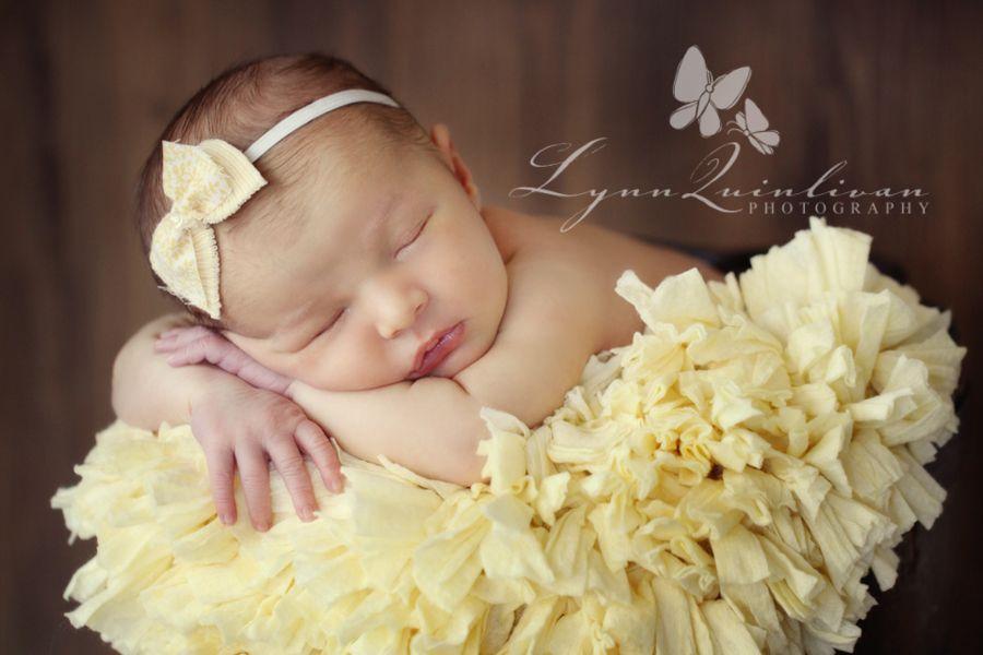 Blog newborn baby girl worcester ma photographer yellow bow cute jpg 900x600 pixels