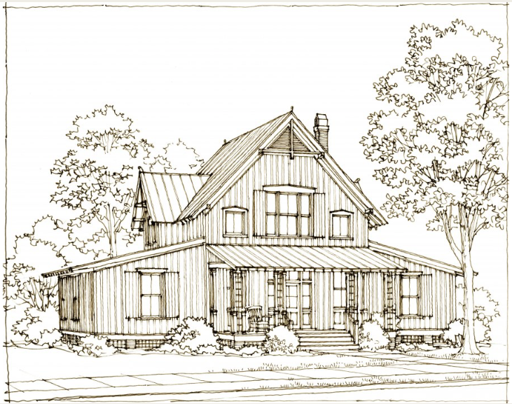 This Is The Country Living Anniversary Farmhouse Plan By Our Town Plans For Country Living Magazine Farmhouse Plans Town House Plans Modern Farmhouse Exterior