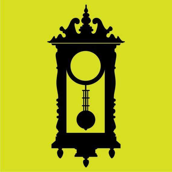 Tic-Toc Antique Wall Clock Vinyl Wall Decal Graphic by vinylfruit ...