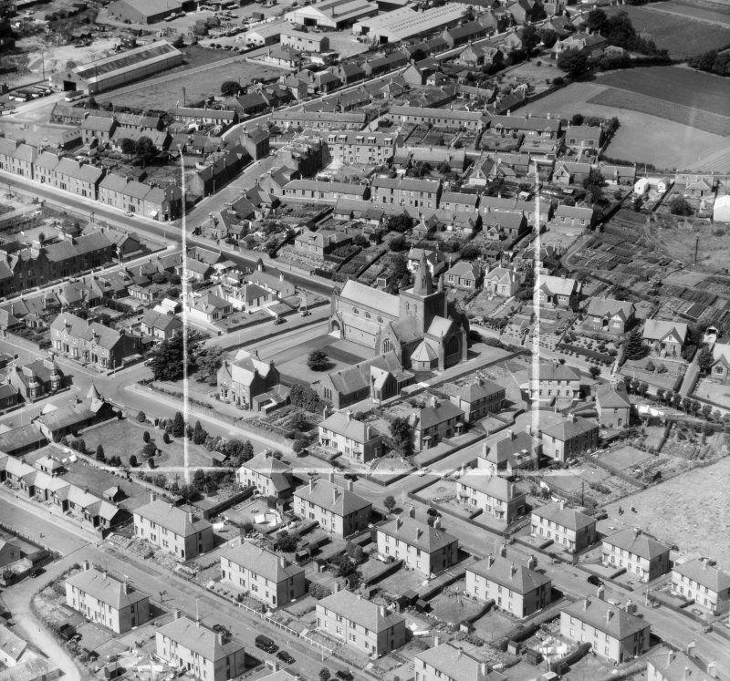 Lowson Memorial Church Forfar Angus Scotland Oblique Aerial Photograph Taken Facing North