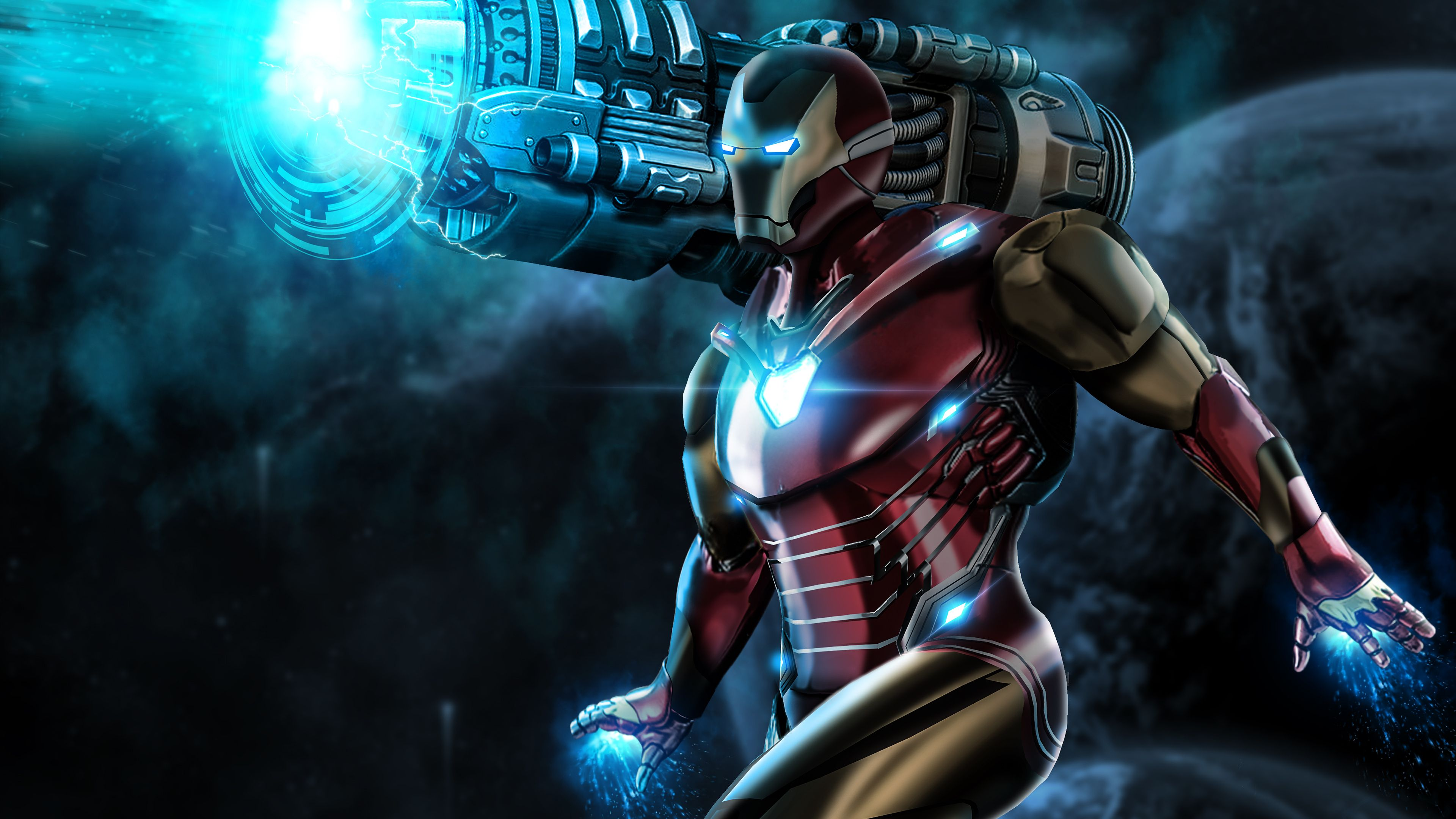 Iron Man Proton Cannon 4k Superheroes Wallpapers Iron Man