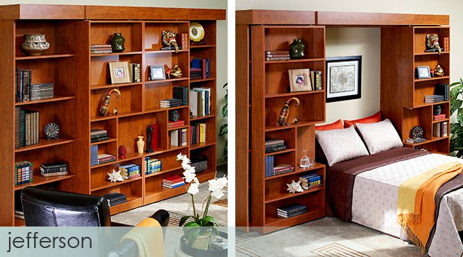 Presidential indeed with ample storage for books or for Bookshelf behind bed
