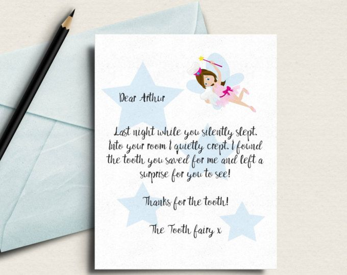 graphic about Tooth Fairy Stationary named Enamel fairy letter, teeth fairy printable, custom-made
