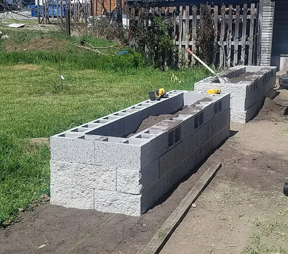 The Start Of Raised Garden Beds That Also Create A