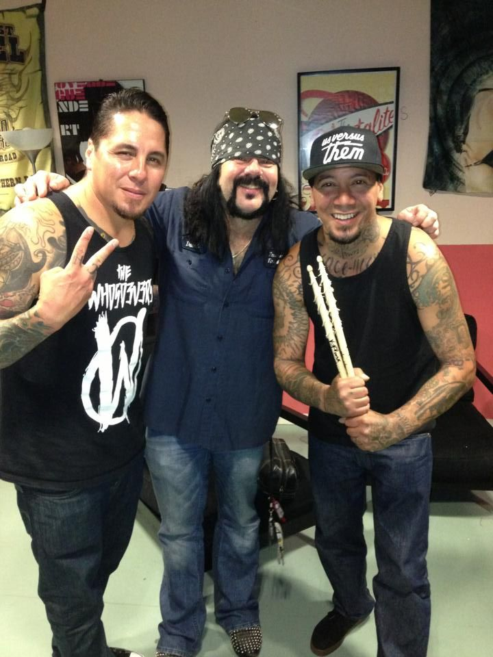 Sony & Wuv from P.O.D. with Vinnie Paul.