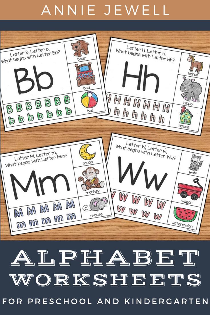 Alphabet Worksheets For Preschool And Kindergarten Alphabet Pictures Alphabet Activities Letter Recognition Worksheets [ 1102 x 735 Pixel ]