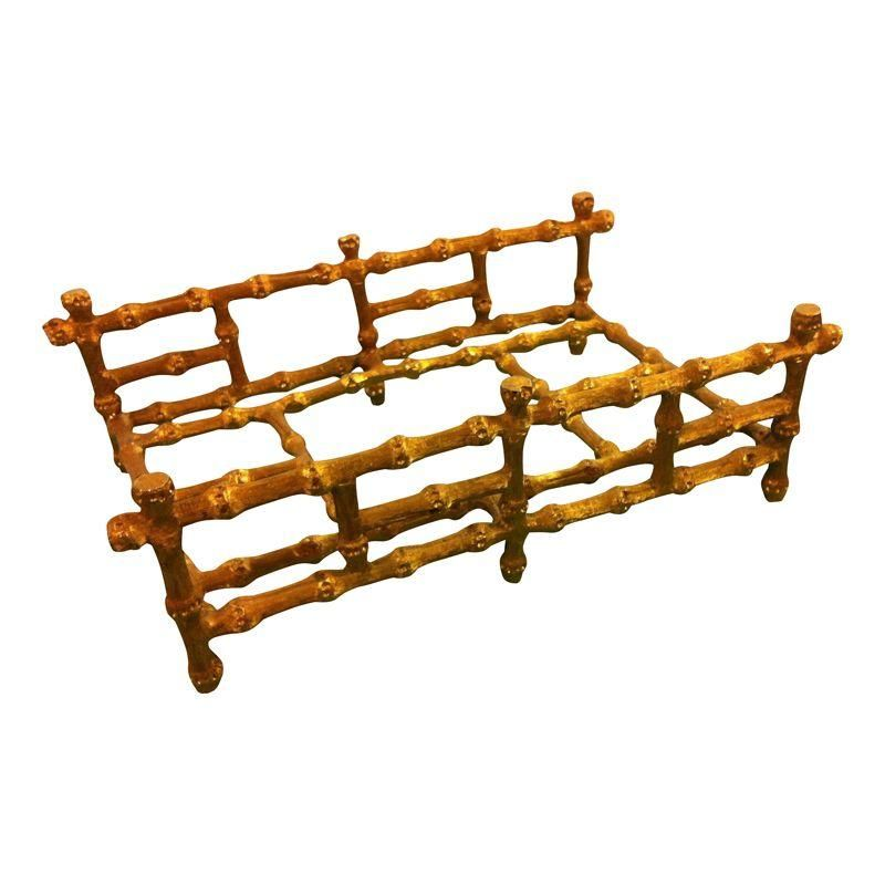 This is a gorgeous vintage piece. Gold metal faux bamboo can be used in the kitchen to hold napkins or in athebathroom for hand towels.