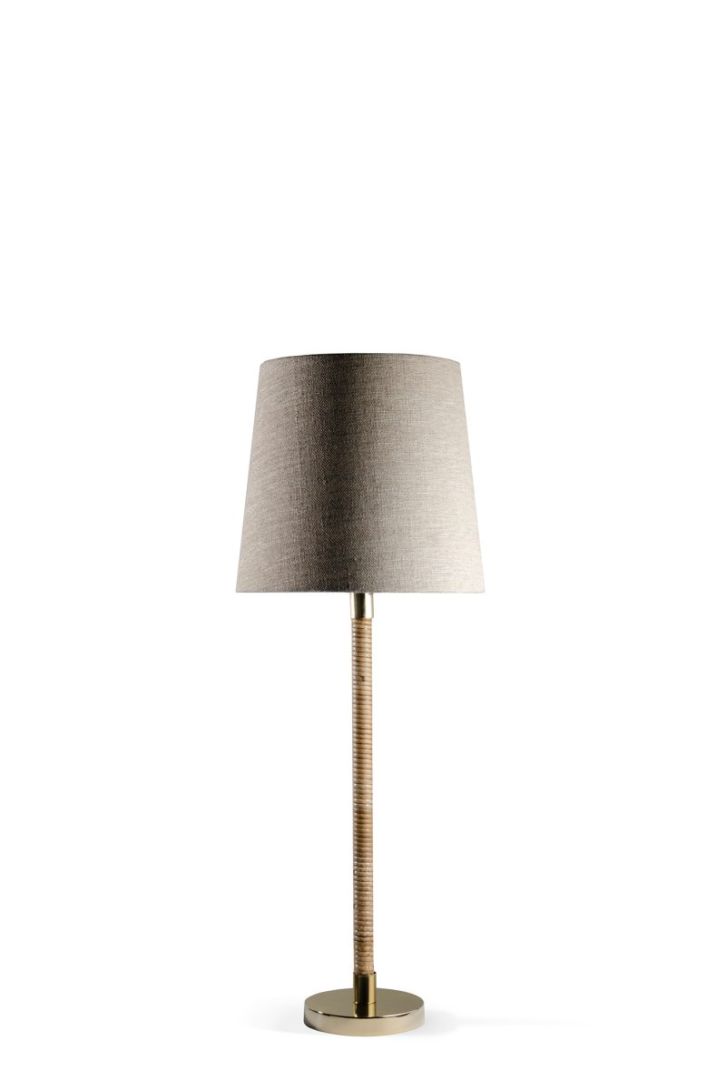 Nickel Metal Candlestick Table Lamp