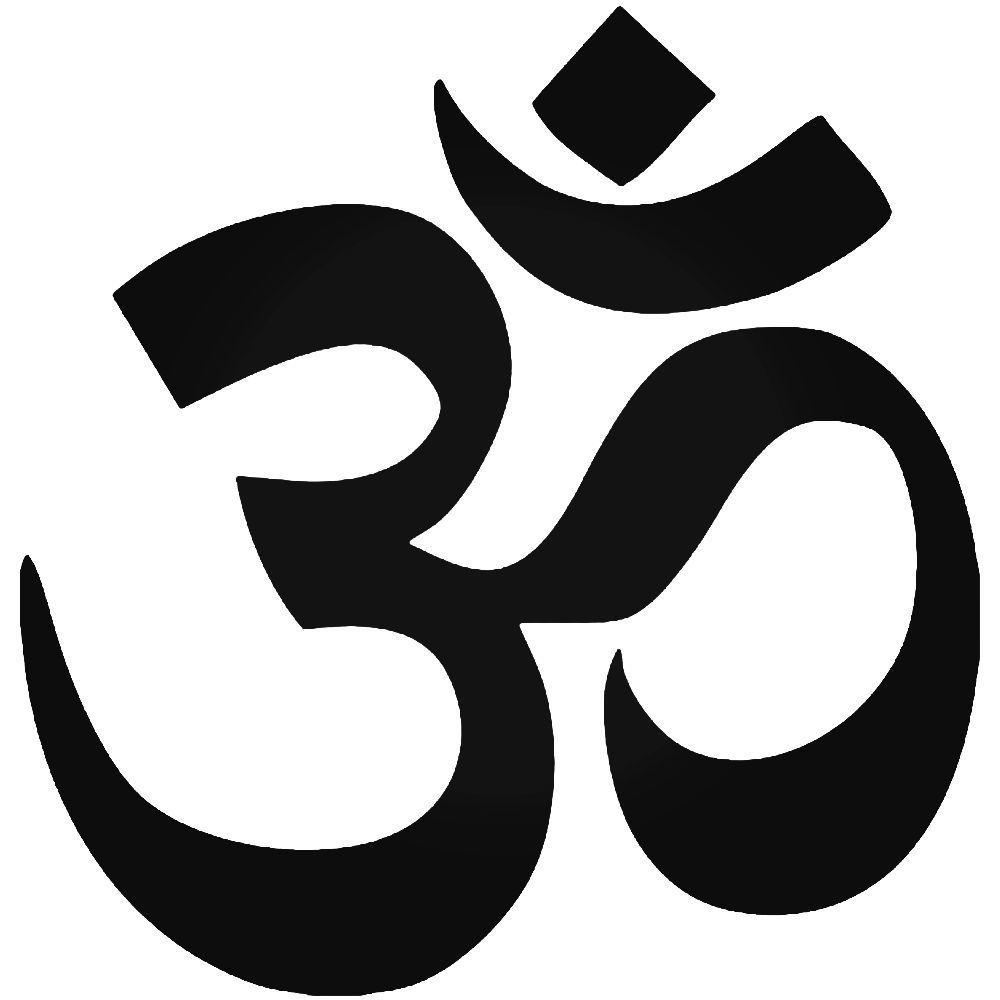"WHITE 4/"" Laptop Sticker OHM Symbol Om Yoga Meditation Car Decal"