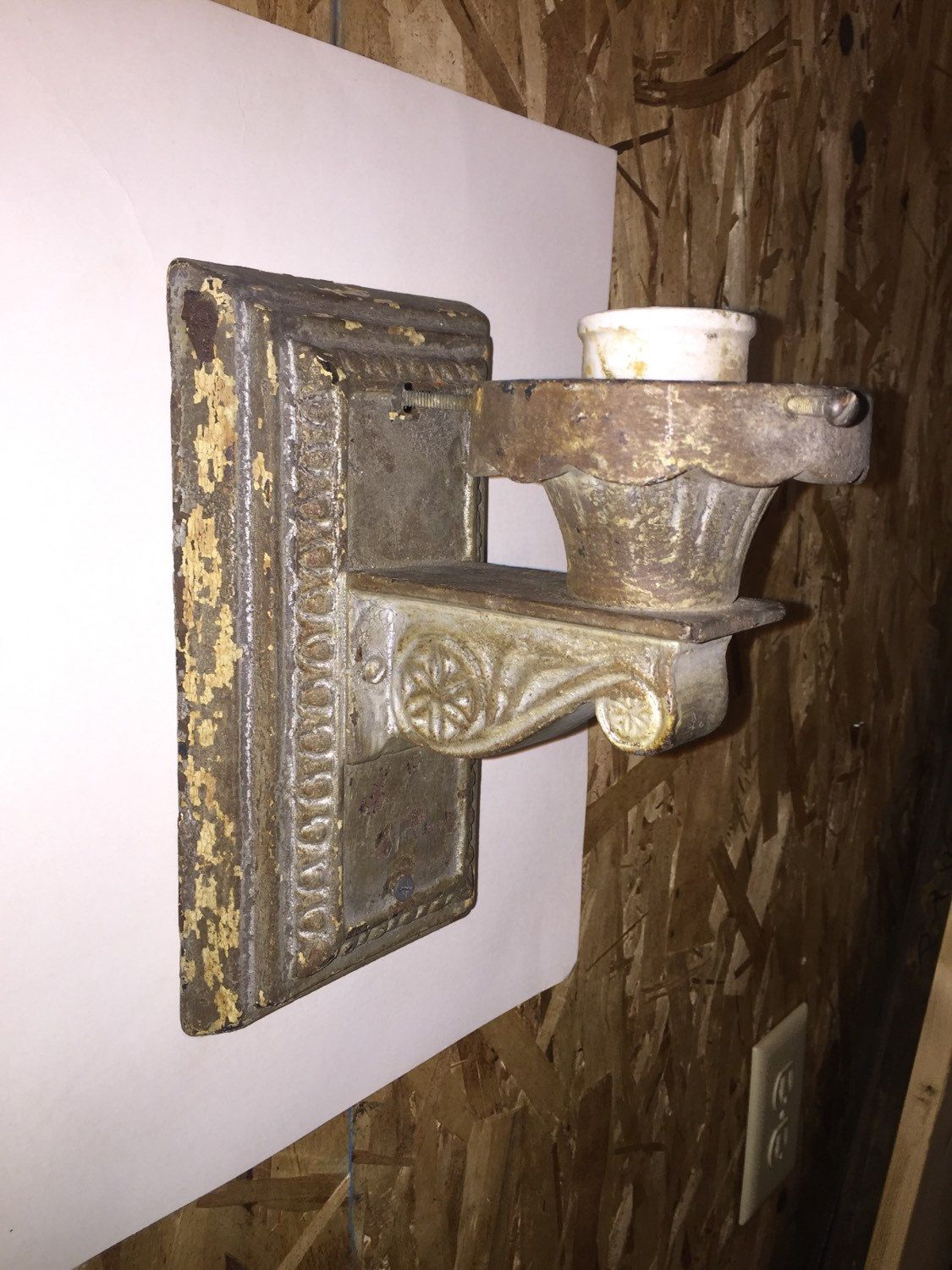 """Cast Iron Electric Wall Sconce 9"""" x 4 3/4""""   Electric wall ... on Electric Wall Sconces Indoor id=54669"""