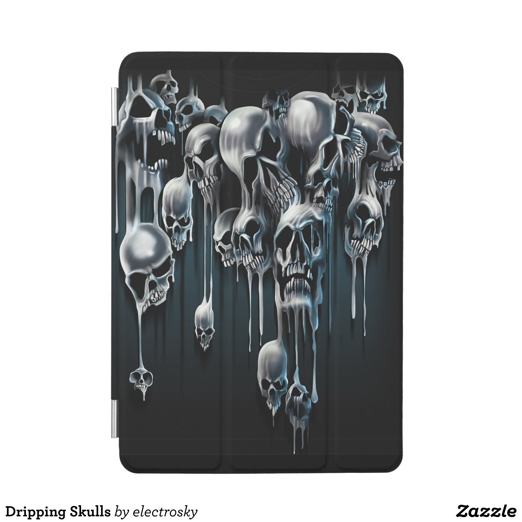 Dripping skulls ipad mini cover in 2020