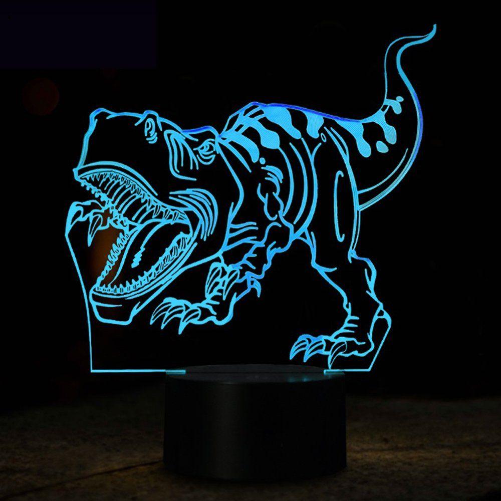 Echodream NChance Christmas Gift Magic Dinosaur Lamp 3D