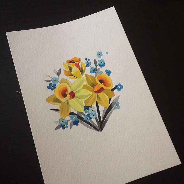 Sasha Unisex On Instagram Narcissus Forgetmenot Sashaunisex Watercolor Narcissus Flower Tattoos Sasha Unisex Narcissus Flower