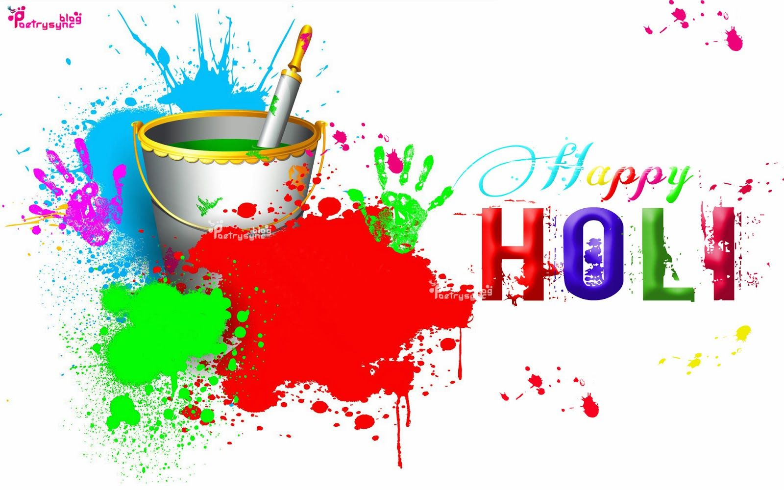 Happy Holi Painted Coloures HD 1920 1200 Wallpapers