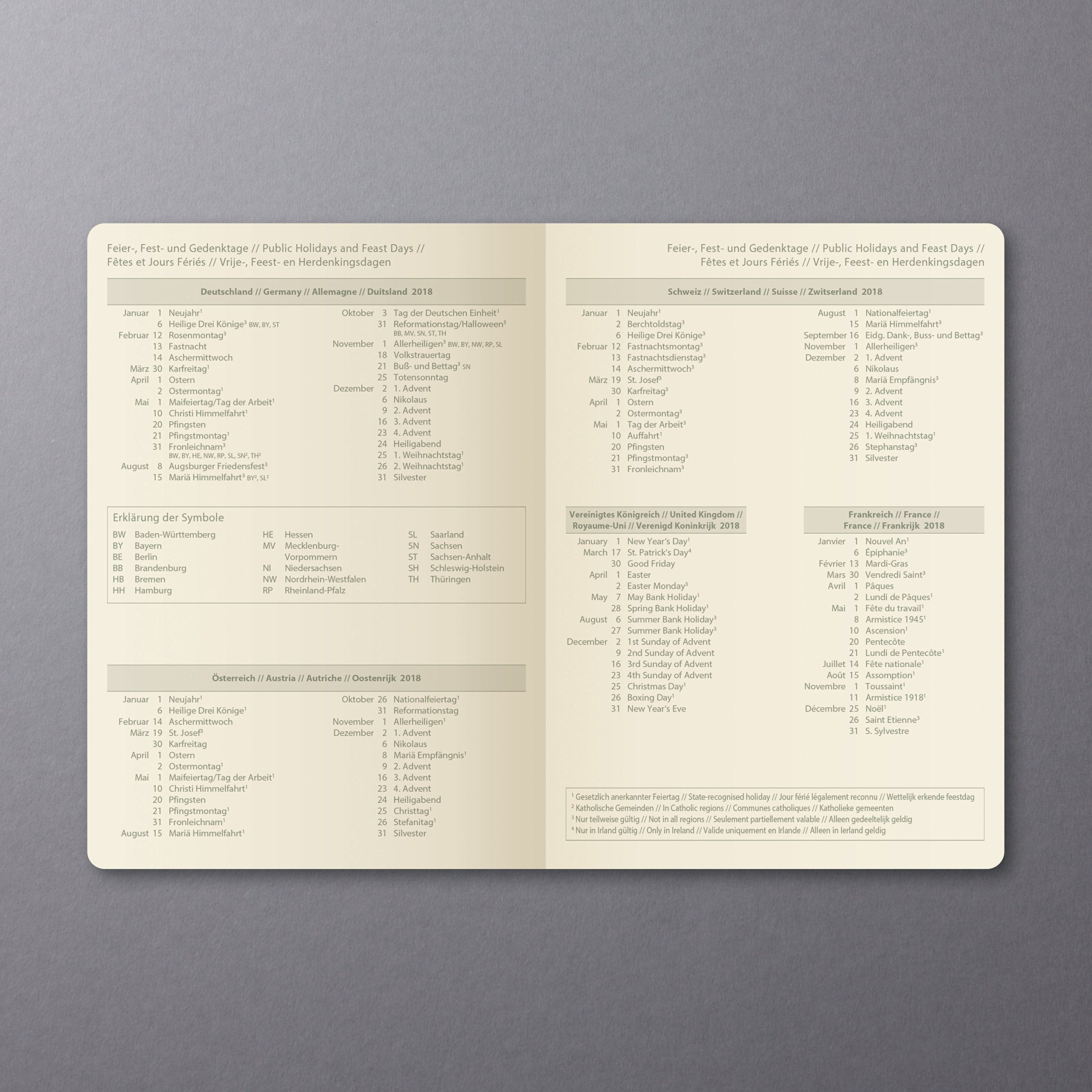 Sigel C1811 Calendario Giornaliera Conceptum 2018 Copertina