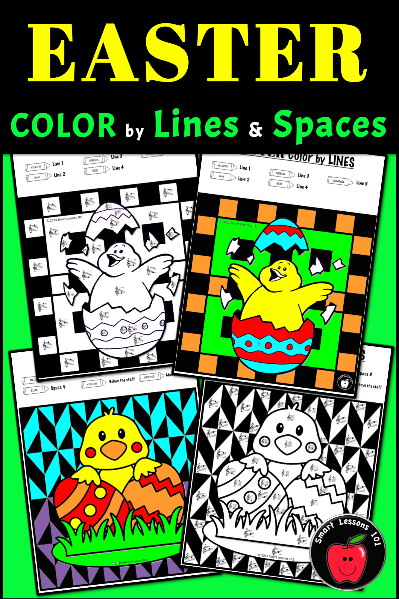 Easter Music Color By Code Color By Note Color By Rhythm