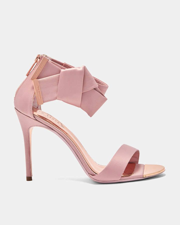 7e08846cb Ted Baker ELIRAA Knotted bow satin sandals
