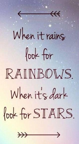 rainbows and stars...